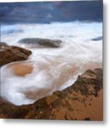 Angry Sea Metal Print
