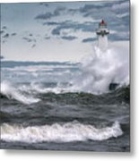 Angry Waters Of Lake Ontario Metal Print