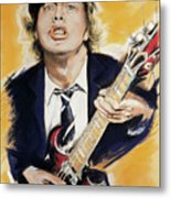Angus Young Metal Print