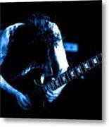 Angus Young On Guitar Metal Print