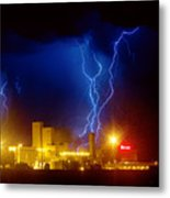 Anheuser-busch On Strikes Metal Print