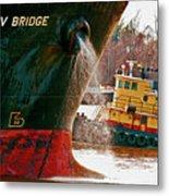 Anichkov Bridge Metal Print