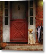 Animal - Dog - Waiting For My Master Metal Print
