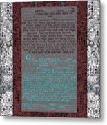 Animal  Ketubah- Reformed And Interfaith Version Metal Print