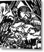 Animal Legend 1912 Metal Print