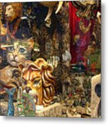 Animal Masks From Venice Metal Print
