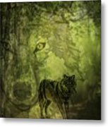 Animal Sprits - The Wolf Metal Print