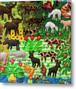 Animal Tapestry Metal Print