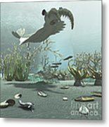 Animals And Floral Life Metal Print