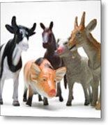 Animals Figurines Metal Print