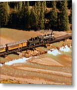 Animas River Crossing Metal Print
