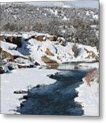 Animas River In January Metal Print