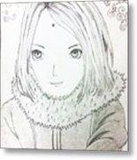 Anime Drawing  Metal Print