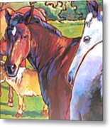 Anjelica Huston's Horses Metal Print