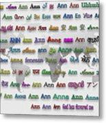 Ann Metal Print