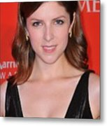 Anna Kendrick At Arrivals For Time 100 Metal Print by Everett
