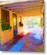 Anna Maria Elementary Office Hallway C130662 Metal Print