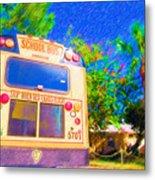 Anna Maria Elementary School Bus C131270 Metal Print