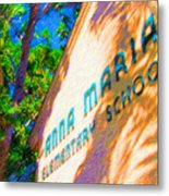 Anna Maria Elementary School Sign C131272 Metal Print