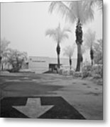 Anna Maria Island Branch Library In Fog Infrared 50 Metal Print