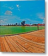Anna Maria Island Seen From The Historic City Pier Panorama Metal Print