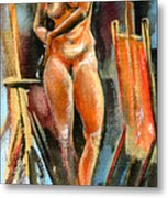 Anna Nude Metal Print by Ion vincent DAnu