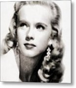 Anne Francis, Vintage Actress By John Springfield Metal Print