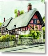 Anne Hathaway Cottage England Metal Print