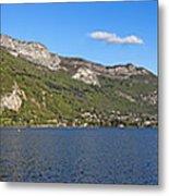 Annecy Lake Panorama Metal Print