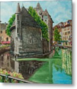 Annecy-the Venice Of France Metal Print