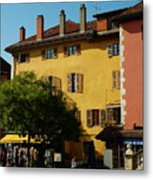 Annecy Town Square Metal Print