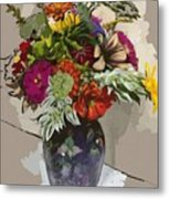 Anne's Flowers Metal Print