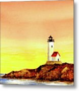 Annisquam Harbor Lighthouse - Summer Scene Metal Print
