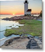 Annisquam Lighthouse Sunset Vertical Metal Print