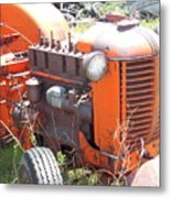Another Angle Of Old Tractor Metal Print