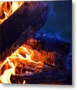 Another Log On The Fire Metal Print
