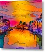 Another Surreal Venice Sunset Metal Print