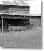 Another Time -- Black And White Metal Print