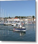 Anstruther Away Fishing Metal Print