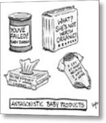 Antagonistic Baby Products Metal Print