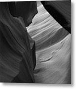 Antelope Canyon Erosions Bw Metal Print