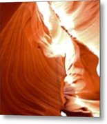 Antelope Canyon Scuplture Metal Print