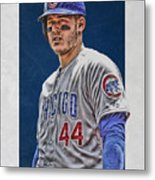 Anthony Rizzo Chicago Cubs 3 Metal Print