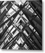 Anthony Skylights Grayscale Metal Print