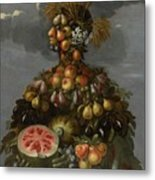 Anthropomorphic Allegory Of Summer Metal Print