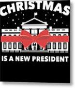 Anti Donald Trump Christmas Edition Vote For Dems Dark Metal Print