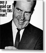Anti-nixon Poster, 1960 - To License For Professional Use Visit Granger.com Metal Print