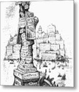 Anti-trust Cartoon, 1889 Metal Print by Granger
