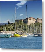 Antibes Fort Carre And Port Vauban  Metal Print
