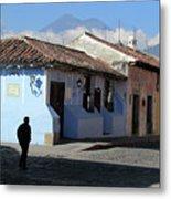 Antigua Guatemala Streetscene Metal Print
